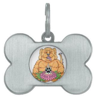 Placa Para Mascotas Templo de las etiquetas del mascota del perro