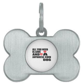 Placa Para Mascotas Todos usted necesita diseños de los perros de CHIN