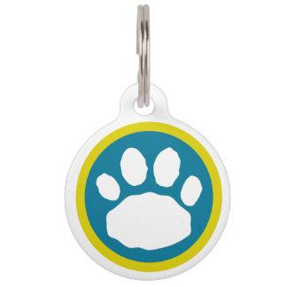 Placa Para Mascotas Trullo colorido e impresión animal púrpura de la