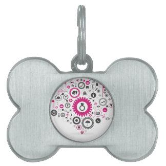 Placa Para Mascotas Viste una rueda de engranaje