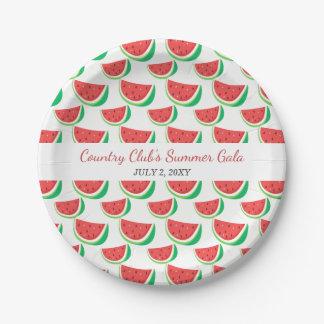 Placa personalizada del fiesta del verano del plato de papel
