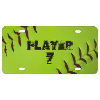 Placa personalizada del softball