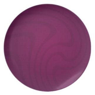 Placa púrpura elegante del remolino plato