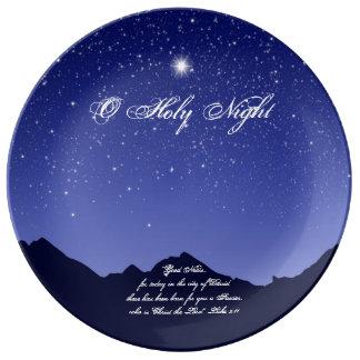 Placa santa de la porcelana del navidad de la plato de porcelana