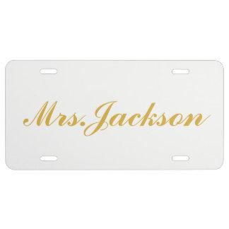 Placa - señora Gold