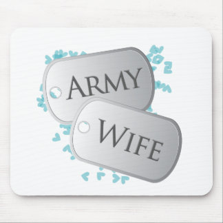 Placas de identificación de la esposa del ejército alfombrilla de ratón