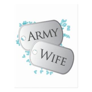 Placas de identificación de la esposa del ejército postal