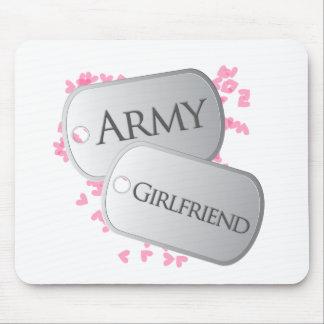Placas de identificación de la novia del ejército alfombrilla de ratón