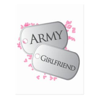 Placas de identificación de la novia del ejército postal