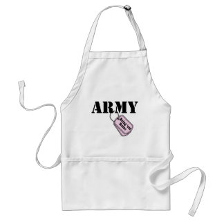 Placas de identificación del ejército delantal