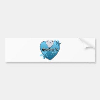 Placas de identificación en forma de corazón pegatina de parachoque