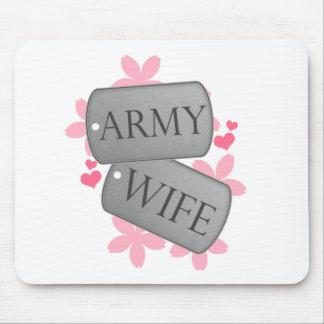Placas de identificación - esposa del ejército alfombrilla de ratón
