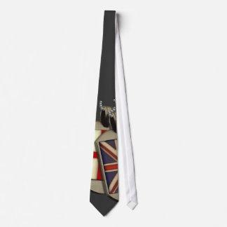 Placas de identificación inglesas corbatas personalizadas