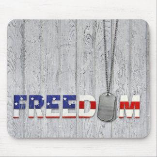 Placas de identificación para la libertad alfombrilla de ratón