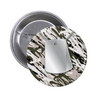Placas de identificación y botón de Camo Pins