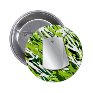 Placas de identificación y botón de Camo Pin