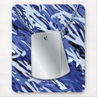 Placas de identificación y Camo Mousepad