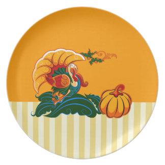 Placas de la acción de gracias del diseño de platos