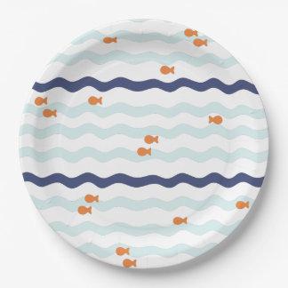 Placas de la fiesta de cumpleaños del Goldfish Plato De Papel