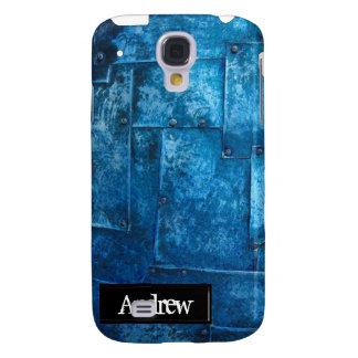 Placas de metal azules iPhone3G Funda Para Galaxy S4
