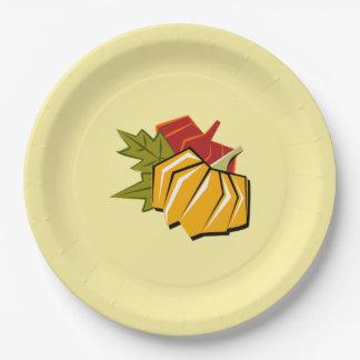 Placas de papel de la acción de gracias del diseño platos de papel