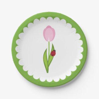 Placas de papel de la mariquita de las placas de plato de papel
