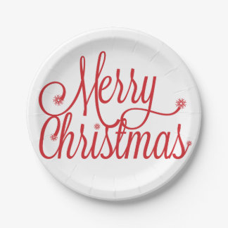 Placas de papel de las Felices Navidad Plato De Papel