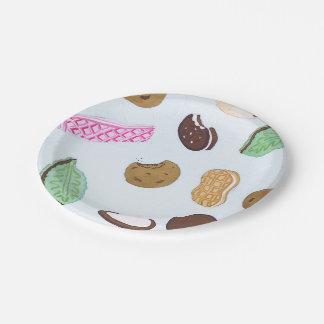 Placas de papel de las galletas coloridas plato de papel