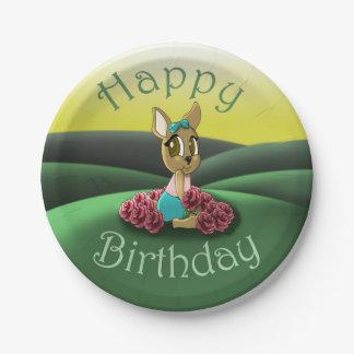 Placas de papel del cumpleaños de los ciervos plato de papel