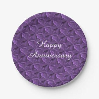 Placas de papel del diamante púrpura del plato de papel