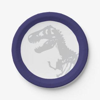 Placas de papel del dinosaurio plato de papel