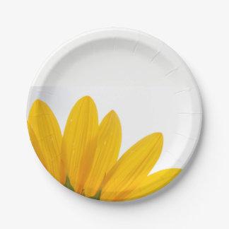 Placas de papel del girasol plato de papel