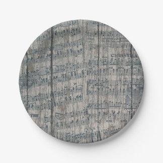 placas de papel del navidad de la nota de la plato de papel