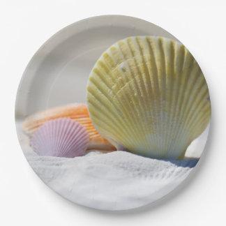"""Placas de papel del SeaShell 9"""" Plato De Papel"""