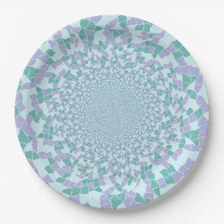 Placas de papel - el agua deslumbra diseño plato de papel