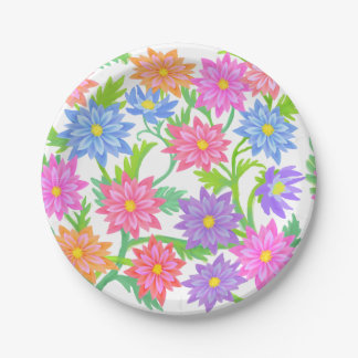Placas de papel florales del jardín inglés plato de papel