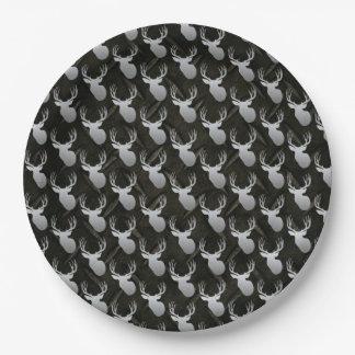 Placas del cumpleaños de la caza de los ciervos de plato de papel