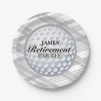 Placas del fiesta de retiro del golf plato de papel