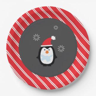 Placas del pingüino de la placa de papel del país plato de papel