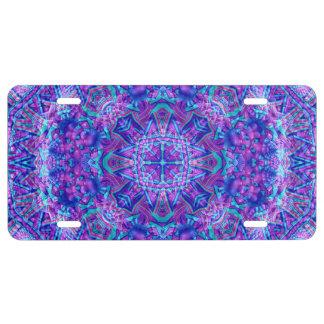 Placas púrpuras y azules del vintage
