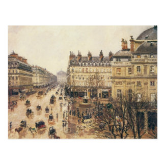 Place du Theatre Francais, París: Lluvia por Tarjetas Postales