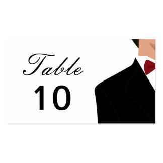 Placecards de la tabla del novio plantillas de tarjeta de negocio