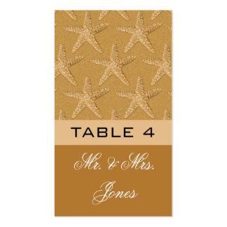Placecards de la tabla para casarse tarjetas de visita