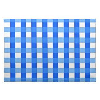 Placemat - azul y blanco comprobados mantel individual