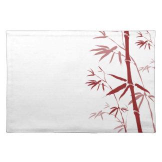 Placemat de bambú rojo mantel