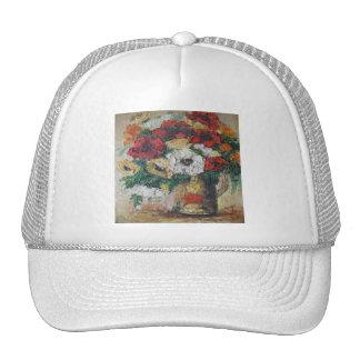 Placer de la mezcla de la flor de la pintura de gorras de camionero