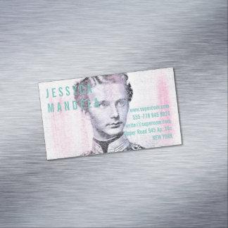 Placer de las acuarelas tarjeta de visita magnética