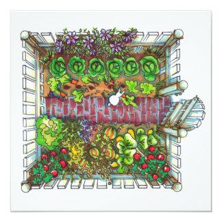 Placer del jardín invitación 13,3 cm x 13,3cm