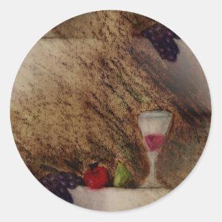 Plaisirs da fruto los productos múltiples pegatinas redondas