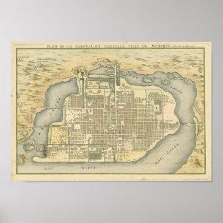Plan 1715 de Ciudad de México Póster